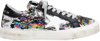 Golden Goose May Rainbow Sequin Low-Top Sneakers