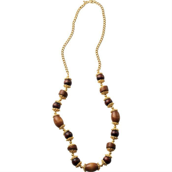 Wood Bead  Necklace by Kenneth Jay Lane
