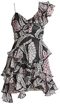 Isabel Marant Women's Enta Ruffle Asymmetric Dress