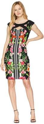 Sangria Tropical Cap Sleeve Dress Women's Dress