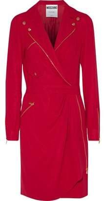 Moschino Draped Silk-Crepe Dress