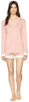 Cosabella Bella Screen Long Sleeve Top Boxer PJ Set Women's Pajama Sets