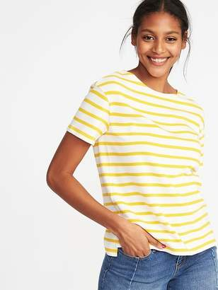 Old Navy Relaxed Mariner-Stripe Thick-Knit Tee for Women