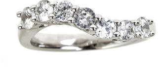 JCPenney FINE JEWELRY LIMITED QUANTITIES Genuine White Zircon Sterling Silver Wave Ring