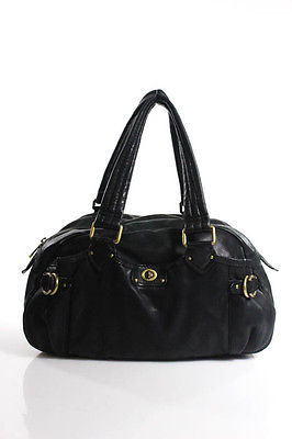 Marc By Marc Jacobs Marc By Marc Jacobs Black Leather Gold Hardware Double Strap Full Zipper Shoulde