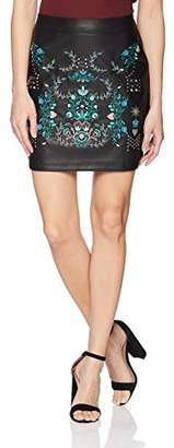 Desigual Women's Acougue Synthetic Leather Skirt