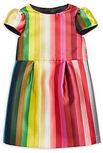 Milly Little Girl's& Girl's Rainbow Pleated Dress