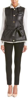 Derek Lam 10 Crosby 10 Crosby Belted Leather Utility Vest