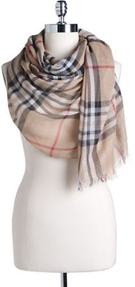 Lord & Taylor Cotton Plaid Scarf $48 thestylecure.com