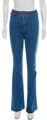 Veronica Beard Mid-Rise Wide-Leg Jeans