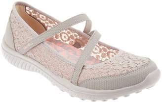 Skechers Crochet Mesh Mary Janes - Be Light Florescent