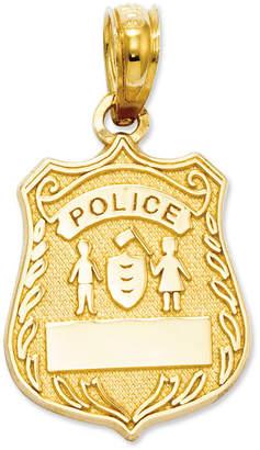 Macy's 14k Gold Charm, Police Badge Charm