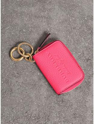 Burberry Embossed Leather Notebook Charm
