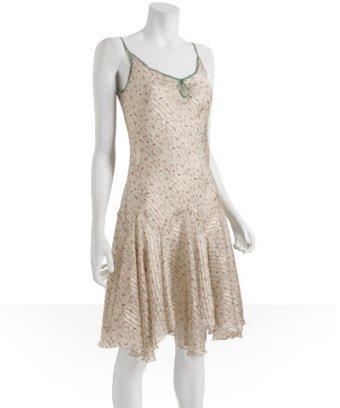 Jovovich-Hawk sage floral silk chiffon 'Irene' dress