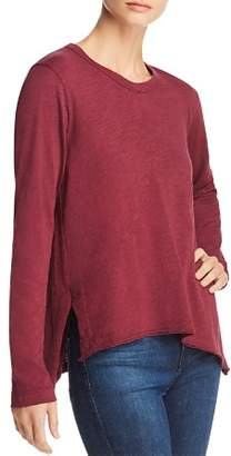 Wilt Long-Sleeve Seamed Cotton Tee