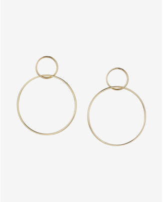 Express Interlock Hoop Earrings $16.90 thestylecure.com