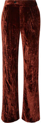 Chloé Crushed-velvet Pants - Copper