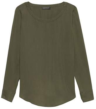 Banana Republic Petite TENCELTM Perfect Tunic Top