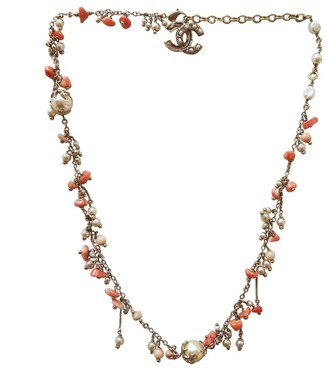Chanel Orange Steel Long Necklace