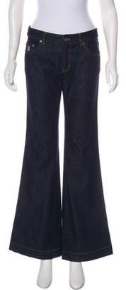 RED Valentino Mid-Rise Flared Jeans