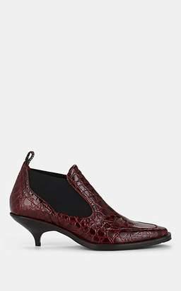 Sies Marjan Women's Kora Crocodile-Embossed Leather Chelsea Boots - Burgundy