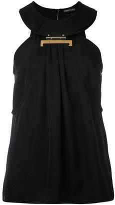 Tom Ford halterneck clasp blouse