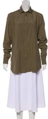 Loro Piana Silk Button-Up Top