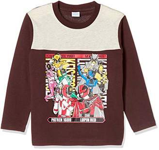 Bandai (バンダイ) - [バンダイ] 快盗戦隊ルパンレンジャーvs警察戦隊パトレンジャー デザイン長袖Tシャツ 長袖Tシャツシリーズ ボーイズ オートミール 日本 120cm (日本サイズ120 相当)