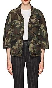 R 13 Women's Abu Camouflage Cotton Shrunken Jacket