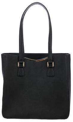Calvin Klein Crosshatch Leather Tote