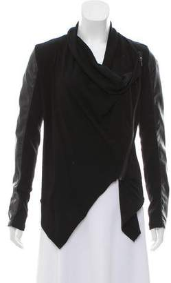Blank NYC Faux Leather- Accented Zippered Jacket