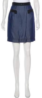 Zac Posen Z Spoke by Mini Chambray Skirt