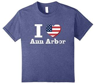 I Heart Love Ann Arbor Patriotic Distressed Vintage T-Shirt