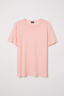 H&M Linen T-shirt - Orange