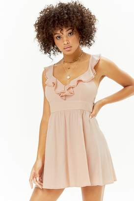 Forever 21 Crochet Trim Flounce Dress
