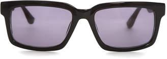 Raf Simons Black Rectangle Sunglasses $310 thestylecure.com