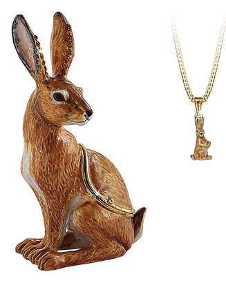 Fashion World Hare Secret Trinket Box and Necklace