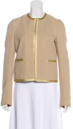 Joseph Collareless Long Sleeve Jacket