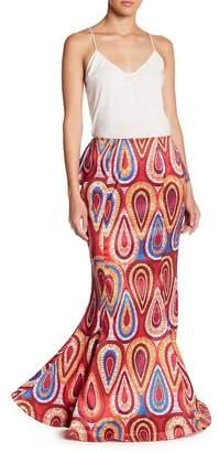 CQ by CQ Cascade Ruffle Maxi Mermaid Skirt
