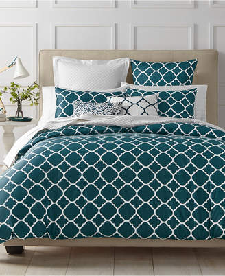 Charter Club Last Act! Damask Designs Geometric Peacock 2-Pc. Twin Comforter Set, Created for Macy's Bedding