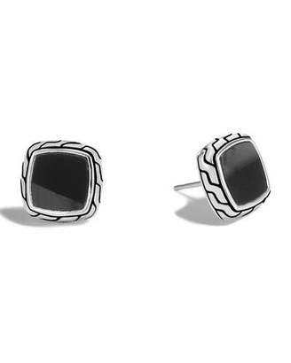 John Hardy Classic Chain Black Onyx Stud Earrings