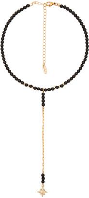 Ettika Beaded Drop Necklace in Black. $44 thestylecure.com