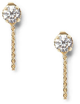 Vince Camuto Gold Crystal Stud Swag Earrings