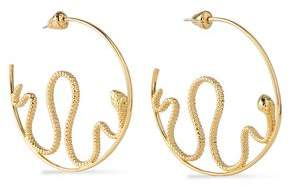 Noir Gold-Tone Hoop Earrings