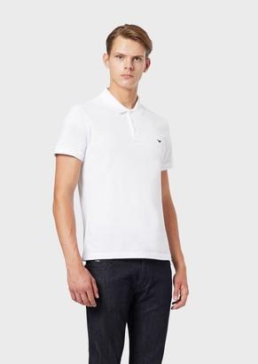 Emporio Armani Polo Shirt In Pure Cotton