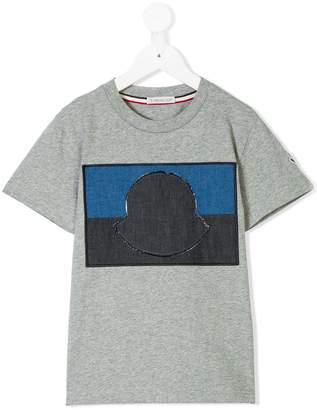 Moncler contrast rectangular patch T-shirt