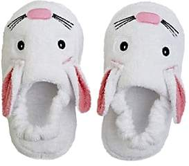 Yikes Twins Bunny Cotton Terry Slippers - White
