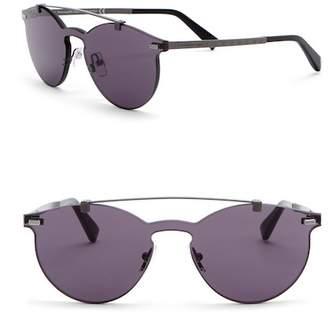 Ermenegildo Zegna 56mm Rimless Browbar Sunglasses