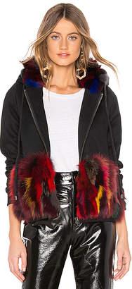 Jocelyn Dyed Multi Fox Zipper Sweatshirt