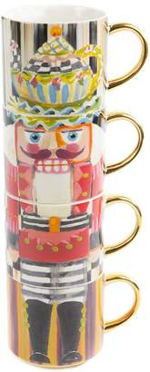 Mackenzie Childs Mackenzie-childs Nutcracker Mug Tower (Set of 4)
